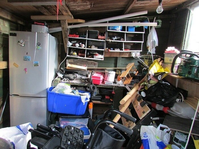Picture of a messy Florida garage