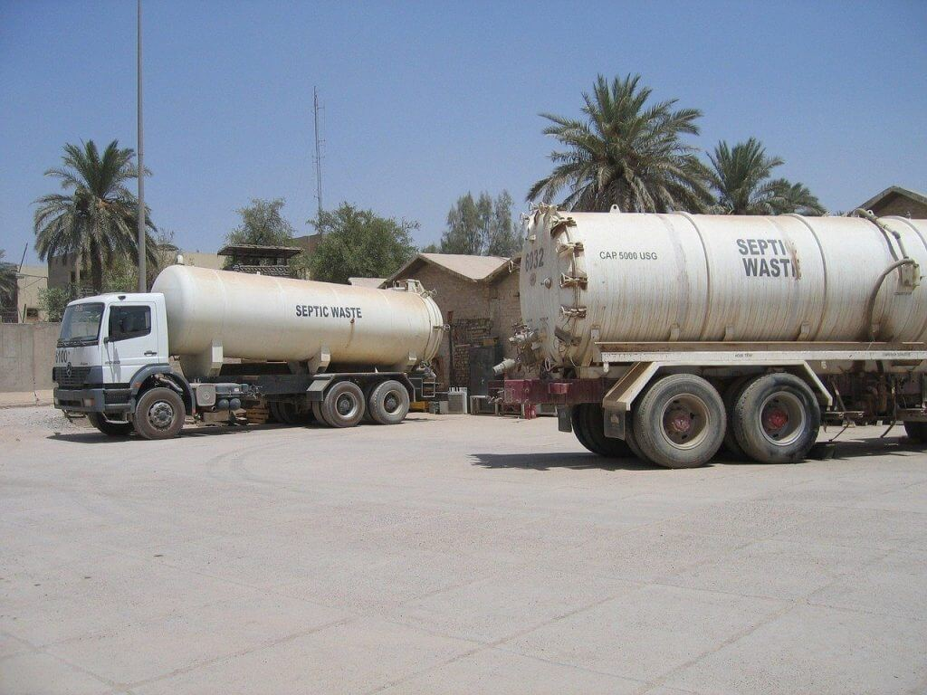 Picture of septic tank waste trucks in Florida